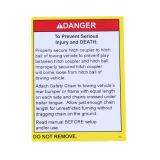 Papel autoadhesivo Etiquetas de seguridad de advertencia impresas personalizadas