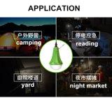 Indicatore luminoso di campeggio Emergency solare con la lampada ricaricabile