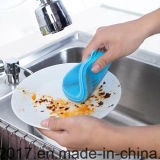 Les éponges laveur de vaisselle en silicone Mildew-Free antibactérien doux pinceau plat pour la cuisine Pots/- Food Grade Pans-Heat résistant