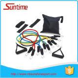 Les bandes promotionnelles de résistance réglées, résistance réunit le kit, les bandes de résistance d'exercice de forme physique, bandes d'exercice pour l'exercice, bandes de tube de latex