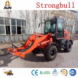 Tractor con 4en1, retroexcavadora cargadora frontal, el Slasher, el tractor fel