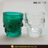 卸し売り多彩な頭骨のガラス蝋燭ホールダー