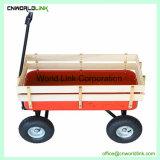 ステーションワゴンのトロリー木の子供のカートの庭装置はワゴンを運ぶ