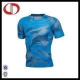 Chemises neuves de forme physique et de gymnastique de sports d'hommes d'impression de modèle de mode
