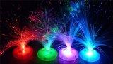3*AA 건전지 다채로운 광섬유 LED 꽃 훈장 빛