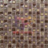 Cristallo della miscela del travertino con le mattonelle di mosaico di plastica del blocco per grafici (CSR097)