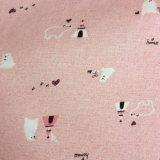 tissu 100%Cotton estampé par flanelle pour des pyjamas de dames