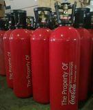 Preparo do barril do cilindro de CO2 Comprimido de alumínio