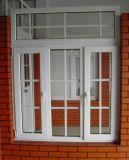 По конкурентоспособной цене пластиковых дверная рама перемещена пластиковые окна с грилем