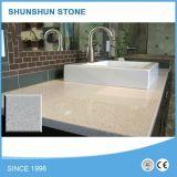 Piedra de Cuarzo blanco/Sparkle tocador cuarto de baño de Cuarzo blanco Top