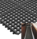 Couvre-tapis en caoutchouc de plancher de cuisine antidérapage creuse rouge