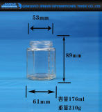 Nahrungsmittelspeicher-legt Glashonig-Glas, Stau-Glas, Flasche in Essig ein