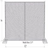 """Й 8'h X 12'w звено цепи временные ограждения панель изготовлена из 16 калибра 1-5/8"""" трубопровода с поперечной стяжке строительство ограждения панели"""
