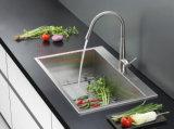 Bassin fabriqué à la main, bassin de cuisine, bassin d'acier inoxydable, bassins