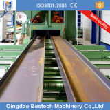 Tisch-Stahlplatten-Granaliengebläse-Maschine der Rollen-Q69