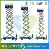 6m-12m 300kg-500kg Plate-forme de levage électrique à ciseaux électriques à ciseaux