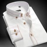 Camice spazzolate della saia tessute 100%Cotton degli uomini di alta qualità