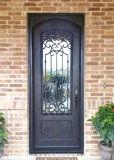 芸術およびクラフトの外部の装飾の単一の錬鉄のドア