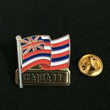 Los pasadores de bandera nacional de metal personalizados