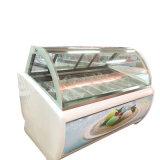 Eiscreme-Karren-/Ice-Sahneschaukasten/italienischer Eiscreme-Schaukasten mit 14trays