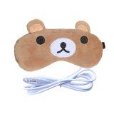 Hoofdkussen van het Oog van de Teddybeer van de bevordering het Elektrisch aangedreven Verwarmde USB Verwarmde