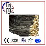 Boyau hydraulique en caoutchouc tressé à haute pression de fil d'acier avec la meilleure qualité