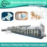 PLC (YNK400-HSV)が付いている機械を作る高速赤ん坊のおむつのパッド