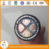 La norma IEC 60502-1 4*50mm2 0.6/1kv XLPE alambres de acero con aislamiento de cable de alimentación de blindados