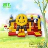 コンボ新しいデザイン大きく黄色くにこやかな人形の膨脹可能な警備員