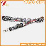 Lanières d'impression de Custom&Polyester de lanière de collet estampées par cadeau promotionnel