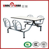 Desenho de Luz Colégio moderno refeitório mesa e cadeira longa