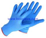 Вкладыш 13 датчиков Nylon, покрытие латекса, перчатка отделки Crinkle