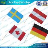Drapeaux à main de petite taille fabriqués en usine avec un mouton en drapeau en plastique (NF01F02025)