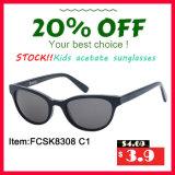 Voorraad van de Zonnebril van Jonge geitjes Eenvoudige Elegant van de Manier met UV400