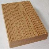 Decking composé en plastique en bois de plancher solide du faisceau WPC