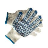 波状PVCによって点を打たれるやし手袋が付いている漂白された綿