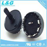 Power 10A250VAC 2-10 Seletor de Posição Interruptores Rotativos