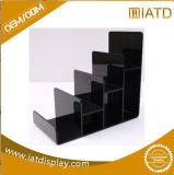Canalisation verticale acrylique noire givrée d'étalage pour la chaussure, /Cloth/Jewelry