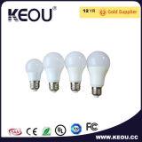 Lumière ronde élevée d'économie d'énergie d'ampoule de globe de l'ampoule 3W 5W 7W 10W 12W 15W B22 E27 DEL du lumen DEL de vente chaude