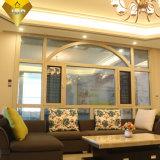 Finestra di vetro di alluminio durevole della stoffa per tendine di prezzi di fabbrica doppia per la villa (XA004)