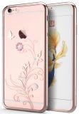 AppleのiPhoneのため女性のためのWomen 6つの6sケースの細いCrystaltpuのシリコーンのラインストーンカバーケース