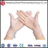 Ärztliche Untersuchung-Vinylwegwerfhandschuhe löschen,/blaue Belüftung-Handschuhe