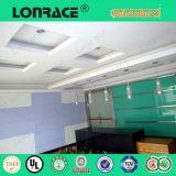 Material acústico para placa de fibra de auditório