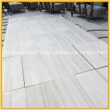 Marmo bianco di legno cinese della vena per le mattonelle di pietra della parete e della pavimentazione