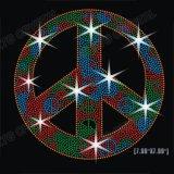 Carta de paz Rhinestone Hot Fix de Impressão Padrão de Transferência para T-shirt
