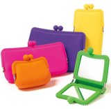 Customized Logo를 가진 Mirror Bag 높은 쪽으로 사탕 Color Silicone Mini Make