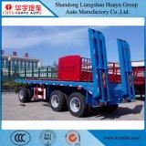 3つの車軸特別なデザイン引き棒の平面引きの貨物トレーラー