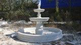 Venta caliente tallada en mármol de Piedra Blanca, fuente de agua (SY-F006)