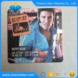 Papel de impresión de color personalizadas posavasos para beber cerveza barata