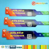 Bracelete descartável do Wristband do bilhete MIFARE Ultalight EV1 RFID de Waterpark